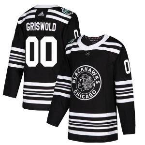 Men's Chicago Blackhawks Clark Griswold Adidas Authentic 2019 Winter Classic Jersey - Black