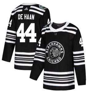Men's Chicago Blackhawks Calvin de Haan Adidas Authentic 2019 Winter Classic Jersey - Black