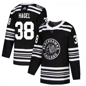 Men's Chicago Blackhawks Brandon Hagel Adidas Authentic 2019 Winter Classic Jersey - Black