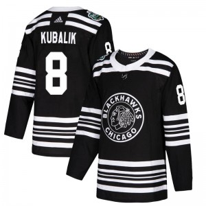 Men's Chicago Blackhawks Dominik Kubalik Adidas Authentic 2019 Winter Classic Jersey - Black