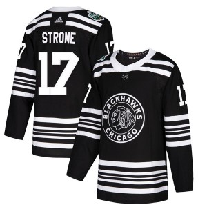 Men's Chicago Blackhawks Dylan Strome Adidas Authentic 2019 Winter Classic Jersey - Black