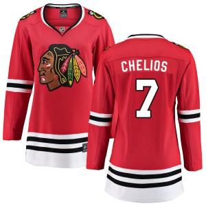 Women's Chicago Blackhawks Chris Chelios Fanatics Branded Home Breakaway Jersey - Red