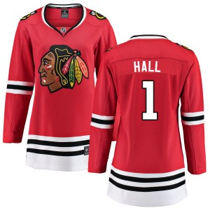 Women's Chicago Blackhawks Glenn Hall Fanatics Branded Home Breakaway Jersey - Red