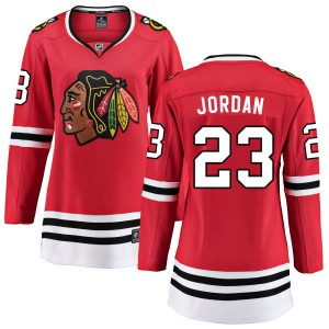 Women's Chicago Blackhawks Michael Jordan Fanatics Branded Home Breakaway Jersey - Red