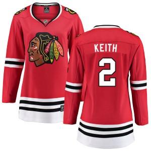 Women's Chicago Blackhawks Duncan Keith Fanatics Branded Home Breakaway Jersey - Red