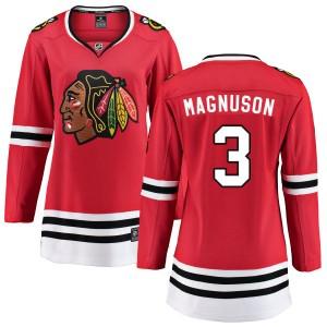 Women's Chicago Blackhawks Keith Magnuson Fanatics Branded Home Breakaway Jersey - Red