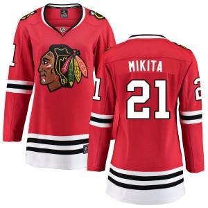 Women's Chicago Blackhawks Stan Mikita Fanatics Branded Home Breakaway Jersey - Red
