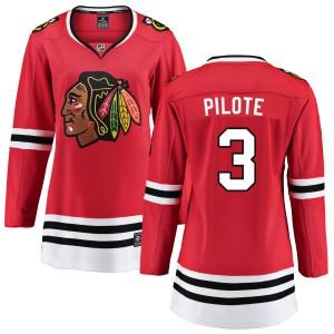 Women's Chicago Blackhawks Pierre Pilote Fanatics Branded Home Breakaway Jersey - Red