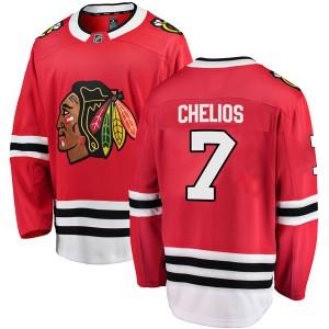 Men's Chicago Blackhawks Chris Chelios Fanatics Branded Breakaway Home Jersey - Red