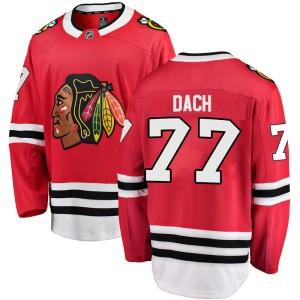 Men's Chicago Blackhawks Kirby Dach Fanatics Branded Breakaway Home Jersey - Red