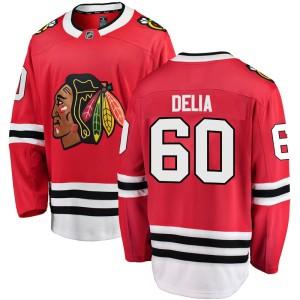 Men's Chicago Blackhawks Collin Delia Fanatics Branded Breakaway Home Jersey - Red