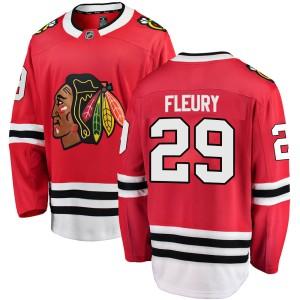 Men's Chicago Blackhawks Marc-Andre Fleury Fanatics Branded Breakaway Home Jersey - Red