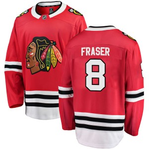 Men's Chicago Blackhawks Curt Fraser Fanatics Branded Breakaway Home Jersey - Red