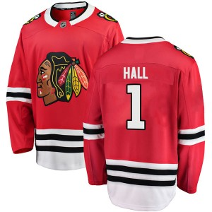 Men's Chicago Blackhawks Glenn Hall Fanatics Branded Breakaway Home Jersey - Red