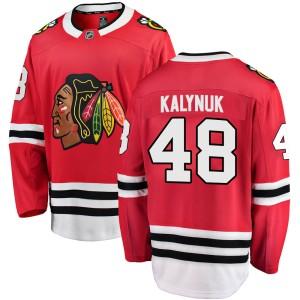 Men's Chicago Blackhawks Wyatt Kalynuk Fanatics Branded Breakaway Home Jersey - Red