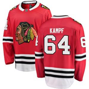Men's Chicago Blackhawks David Kampf Fanatics Branded Breakaway Home Jersey - Red