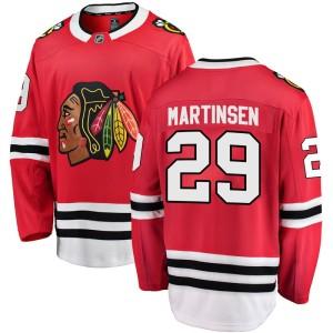 Men's Chicago Blackhawks Andreas Martinsen Fanatics Branded Breakaway Home Jersey - Red