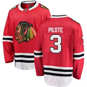Men's Chicago Blackhawks Pierre Pilote Fanatics Branded Breakaway Home Jersey - Red