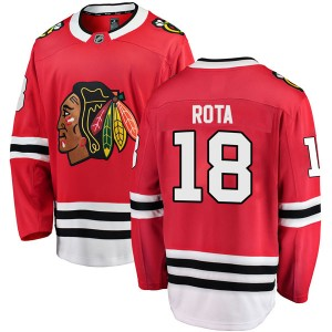 Men's Chicago Blackhawks Darcy Rota Fanatics Branded Breakaway Home Jersey - Red