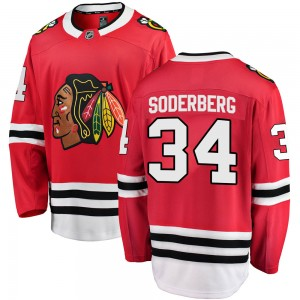 Men's Chicago Blackhawks Carl Soderberg Fanatics Branded Breakaway Home Jersey - Red