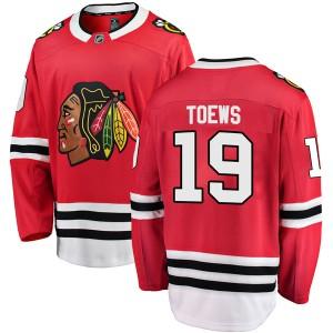 Men's Chicago Blackhawks Jonathan Toews Fanatics Branded Breakaway Home Jersey - Red