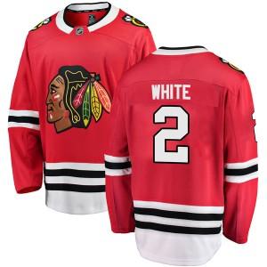 Men's Chicago Blackhawks Bill White Fanatics Branded Breakaway Red Home Jersey - White