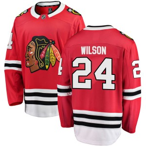 Men's Chicago Blackhawks Doug Wilson Fanatics Branded Breakaway Home Jersey - Red