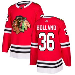 Men's Chicago Blackhawks Dave Bolland Adidas Authentic Home Jersey - Red