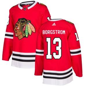 Men's Chicago Blackhawks Henrik Borgstrom Adidas Authentic Home Jersey - Red