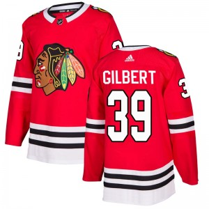 Men's Chicago Blackhawks Dennis Gilbert Adidas Authentic Home Jersey - Red