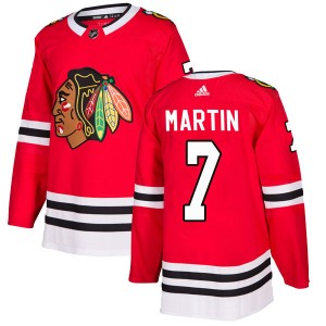 Men's Chicago Blackhawks Pit Martin Adidas Authentic Home Jersey - Red