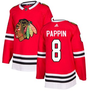 Men's Chicago Blackhawks Jim Pappin Adidas Authentic Home Jersey - Red