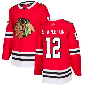 Men's Chicago Blackhawks Pat Stapleton Adidas Authentic Home Jersey - Red