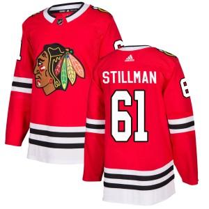 Men's Chicago Blackhawks Riley Stillman Adidas Authentic Home Jersey - Red