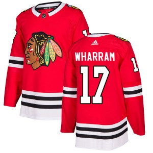 Men's Chicago Blackhawks Kenny Wharram Adidas Authentic Home Jersey - Red