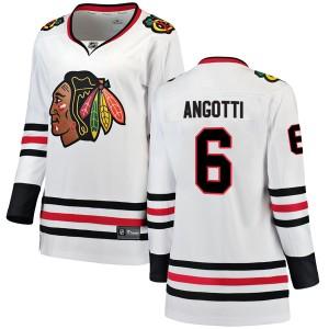 Women's Chicago Blackhawks Lou Angotti Fanatics Branded Breakaway Away Jersey - White