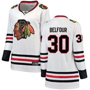 Women's Chicago Blackhawks ED Belfour Fanatics Branded Breakaway Away Jersey - White