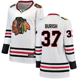 Women's Chicago Blackhawks Adam Burish Fanatics Branded Breakaway Away Jersey - White