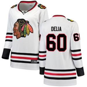 Women's Chicago Blackhawks Collin Delia Fanatics Branded Breakaway Away Jersey - White