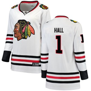 Women's Chicago Blackhawks Glenn Hall Fanatics Branded Breakaway Away Jersey - White