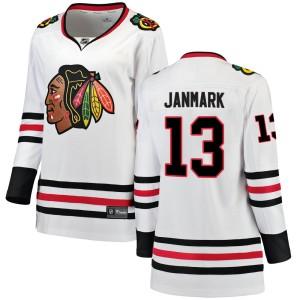 Women's Chicago Blackhawks Mattias Janmark Fanatics Branded Breakaway Away Jersey - White