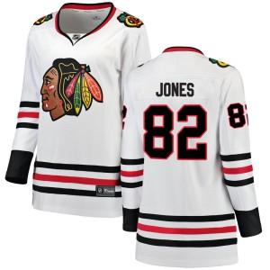 Women's Chicago Blackhawks Caleb Jones Fanatics Branded Breakaway Away Jersey - White