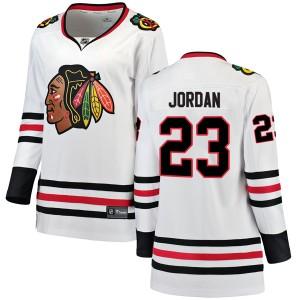 Women's Chicago Blackhawks Michael Jordan Fanatics Branded Breakaway Away Jersey - White