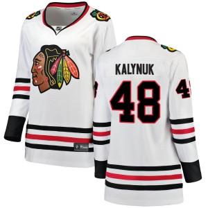 Women's Chicago Blackhawks Wyatt Kalynuk Fanatics Branded Breakaway Away Jersey - White