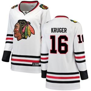 Women's Chicago Blackhawks Marcus Kruger Fanatics Branded Breakaway Away Jersey - White