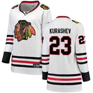 Women's Chicago Blackhawks Philipp Kurashev Fanatics Branded Breakaway Away Jersey - White