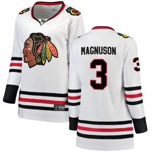 Women's Chicago Blackhawks Keith Magnuson Fanatics Branded Breakaway Away Jersey - White