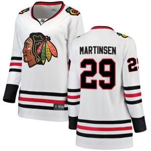 Women's Chicago Blackhawks Andreas Martinsen Fanatics Branded Breakaway Away Jersey - White