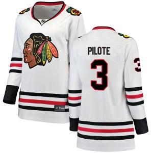Women's Chicago Blackhawks Pierre Pilote Fanatics Branded Breakaway Away Jersey - White