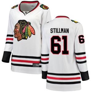 Women's Chicago Blackhawks Riley Stillman Fanatics Branded Breakaway Away Jersey - White